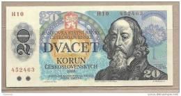 Cecoslovacchia - Banconota Non Circolata FdS Da 20 Corone P-95 - 1988 - Tchécoslovaquie