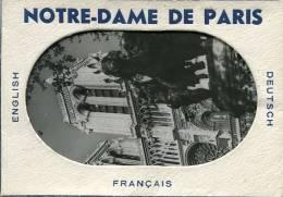 Carnet Notre Dame De Paris  Cpsm Noir Et Blanc - Notre Dame De Paris
