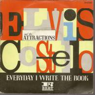 "45 Tours SP - ELVIS COSTELLO  - RCA 68082  "" EVERYDAY I WRITE THE BOOK "" + 1 - Vinyl Records"