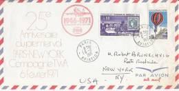 25ème Anniversaire Du 1er Vol Paris New York Par La Compagnie TWA  Le 06 Février 1971 - Avions