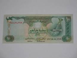 10 Ten  Dirhams - United Arab Emirates Central Bank - Emirats Arabes Unis. - Emirats Arabes Unis