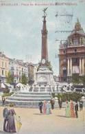 Bruxelles - Place De Brouckère (belle Animation, Monument  Anspach, 1913) - Brüssel (Stadt)