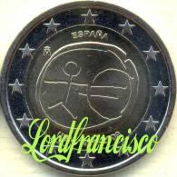 España - 2 Euros 2009 - EMU - ESTRELLAS GRANDES - Errores Y Curiosidades