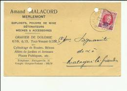 Merlemont Malacord Explosifs Poudre De Mine Détonateurs - Philippeville