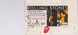 Ticket Concert-rolling Stones-1982 - Tickets De Concerts