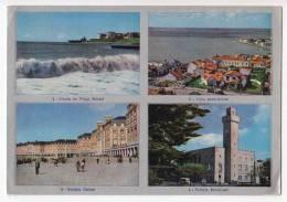 AMERICA ARGENTINA MAE DEL PLATA BREAKERS ON BRISTOL BEACH, GENERAL VIEW, CASINO PROMENADE AND TOWN HAL POSTCARD - Argentina