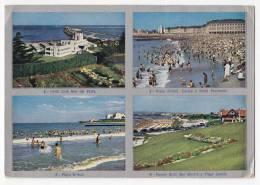 AMERICA ARGENTINA MAE DEL PLATA YATCH CLUB, BRISTOL BEACH, CASINO, GENERAL SAN MARTIN PARK AND MAIN BEACH POSTCARD - Argentina