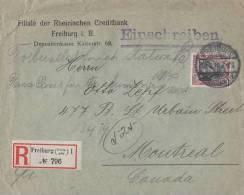 DR R-Brief EF Minr.90I Freiburg 12.5.10 Gel. Nach Canada - Deutschland