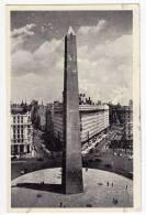 AMERICA ARGENTINA BUENOS AIRES THE OBELISK OLD POSTCARD 1958. - Argentina