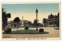 AMERICA ARGENTINA BUENOS AIRES THE MAYO SQUARE OLD POSTCARD 1926. - Argentina
