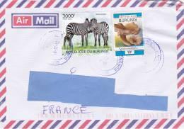 [Z2] Lettre Burundi Zèbre Zebra - Stamps