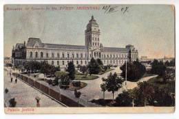 AMERICA ARGENTINA ROSARIO SANTA FE THE JUSTICE PALACE OLD POSTCARD 1907. - Argentina