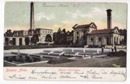 AMERICA ARGENTINA BUENOS AIRES THE WATERWORKS OLD POSTCARD 1907. - Argentina