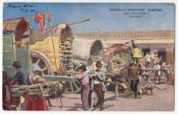 AMERICA ARGENTINA CORDOBA THE MARKET OLD POSTCARD 1908. - Argentina
