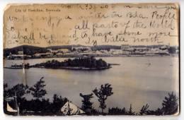 AMERICA ANTILLES BERMUDA CITY OF HAMILTON BROKEN CARD OLD POSTCARD - Bermuda