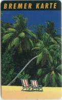 Bremer Karte - Tramticket,Straßenbahnfahrkarte - Palmen,palms - Andere Sammlungen