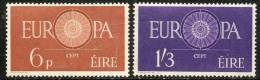 Ireland 1960 - Europa SG182-183 MNH Cat £32 SG2012 - Key Set - Seldom Offered - Irlanda
