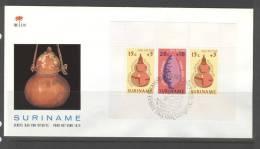 SURINAME, SURINAM 1975 FDC E117 PALM ISSUE. CHILDREN, KINDEREN, ENFANTS. - Suriname ... - 1975