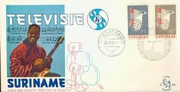SURINAME, SURINAM 1966 FDC E48 LION ISSUE. INTRODUCTION OF THE TELEVISION IN SURINAM. - Surinam ... - 1975