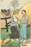 """HUMOUR EROTISME COUPLE DE PAYSANS AGRICULTURE  """" LA RECOLE ET LA HERSE """" CAMPAGNE BEBE - Illustratoren & Fotografen"""