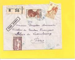 Lettre Avec N° 18 41 AOF + 193 SENEGAL De BAMAKO SENEGAL