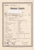 DEUTSCHLAND    -   ST. BLASIEN ( BADEN - WURTTEMBERG )  --  ABGANGS - ZEUGNIS  1943 - Diplome Und Schulzeugnisse