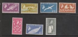 South Georgia 1963 QEII Definitive Set 16 Fine Mint - South Georgia