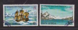 South Georgia 1975 Captain Cook Explorer Issue 2 Higher Values VFU - South Georgia