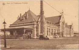 CPA BELGIQUE CHATELINEAU CHATELET La Gare Du Chemin De Fer - Chatelet