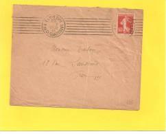 Lettre Avec Semeuse N° 138 De PARIS RUE CLIGNANCOURT - Storia Postale