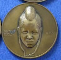 MEDAILLE ART DECO 1931 FEMME OUOLOF THIES Emile MONIER Sénégal Colonie Afrique Française - France
