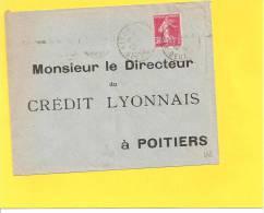 Lettre Avec Semeuse N° 191 Des ALLONNES DEUX SEVRES - Storia Postale