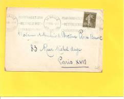 Lettre Avec Semeuse N° 193 De LA BAULE - Storia Postale