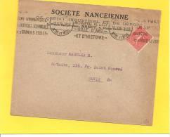 Lettre Avec Semeuse N° 199 De NANCY METROPOLE DE L'EST.... - Storia Postale