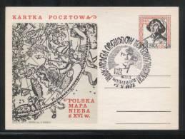 POLAND 1971 COPERNICUS INAUGURATION OF JUBILEE YEARS FESTIVITIES MYSLIBORZ COMM CANCEL ON PC ASTRONOMER SPACE - Astronomie