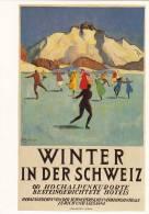 PLAKAT  KARTE REPRODUKTION D´AFFICHE  WINTER IN DER SCHWEIZ - Schweiz