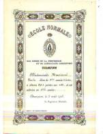 Champion (Namur) - 1916 - Ecole Normale Certificat - Diplômes & Bulletins Scolaires