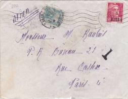 8299# ALGERIE GANDON / LETTRE PAR AVION TAXE POSTE RESTANTE Obl ALGER 27 Dec. 1946 Pour PARIS - Covers & Documents