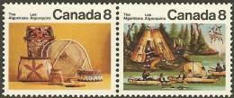 CANADA 1973 MNH Stamp(s) Algonkin Indians 519-520 #5612 - 1952-.... Reign Of Elizabeth II