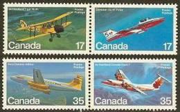 CANADA 1981 MNH Stamp(s) Aeroplanes 814-817 #5743 - 1952-.... Reign Of Elizabeth II