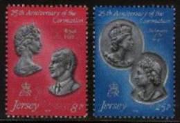 JERSEY 1978 Serie MNH Silver Coronation 185-6 #4240 - Jersey