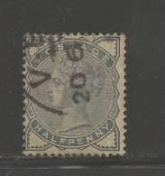 UNITED KINGDOM 1883 Used Stamp Victoria 1/2p Dark Blue-grey Nr. 72 - 1840-1901 (Victoria)