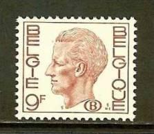 BELGIUM 1980 MNH Stamp(s) Baudouin 9Fr 83 (B) - Belgium