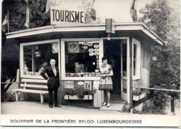 MARTELANGE-SOUVENIR DE LA FRONTIERE BELGO-LUXEMBOURGEOISE-TOURISME-SUPER-ANIMEE-CARTE VIERGE-EDIT.LANDER-EUPEN - Martelange