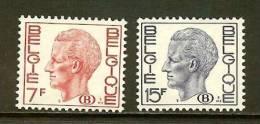 BELGIUM 1971 MNH Stamp(s) Baudouin 7Fr + 15F 66-67 (B) - Officials
