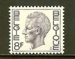 BELGIUM 1972 MNH Stamp(s) Baudouin 8 Franc 1701 - Belgium
