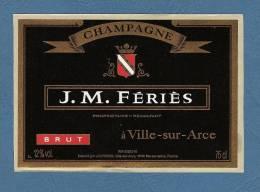 *  LOT  N° 1 -  5 Etiquettes Autocollantes Identique Neuves...CHAMPAGNE  J.M.FERIES  ( Brut ) - Champagne