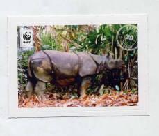 Image à Coller Wwf Edeka Animaux N° 30 Rhinosceros - Vignettes Autocollantes