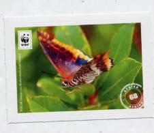 Image à Coller Wwf Edeka Animaux N° 68 Papillon - Adesivi
