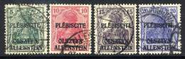 ALLENSTEIN 1920 (April) 5Pfg - 20 Pfg Used.  Michel 1,2,3,5 - Germany